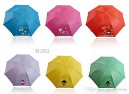 Paraguas tradicionales online-Envío gratis novedad Kokeshi muñeca paraguas plegable japonés muñecas linda botella plegable kimono chica paraguas tradicional