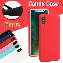 Wholesale Rubber Matte Plastic Silicone - Candy Color Matte Case Ultra Thin Flexible Soft TPU Back Silicone Rubber Case Cover For iPhone X 8 7 Plus 6 6S Samsung Note 8 S8 S7 Edge