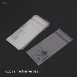 Sacchetti di cellophane rimovibili online-2018 Top Fashion 300pcs trasparente richiudibile Bopp / poli / sacchetto di cellophane 8x20cm trasparente opp sacchetti regalo di plastica imballaggio autoadesivo guarnizione