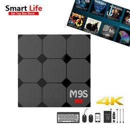 Wholesale Tv Box V3 - 1 PCS Android 6.0 TV Box M9S V3 1GB 8GB Rockchip RK3229 Quad core 2.4G Wifi Fully Loaded KD17.3 4K HDMI Streaming Media Player