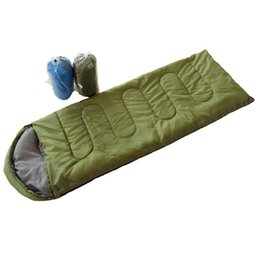 Wholesale Light Hood - Camping sleeping bag Outdoor camping thermal envelope with hood cotton sleeping bag Lunch break light sleeping bag