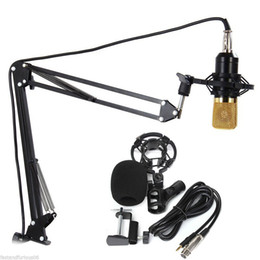 Wholesale Stands For Guitars - BM-700 Microphone With NB-35 Microphone Stand professional condenser USB System for Karaoke Amplifier Computer notebook guitar
