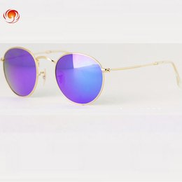 Wholesale Len Cases - Hot Newest Vintage Circle Sunglasses Oculos De Sol Feminino Round Metal Eyeware Glass Len Urban Outfitters With Fine Case Box