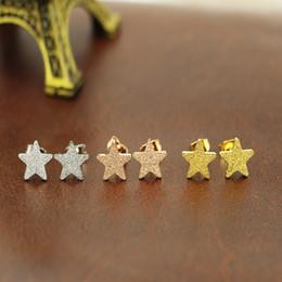 Wholesale Star Stud Earrings Silver Crystal - Fashion High Quality stars stud earrings stainless steel earings women jewelry small ear stud men jewelry fashion earrings