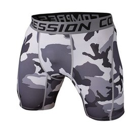 Wholesale Camouflage Stockings - Wholesale- Brand Clothing Camouflage Male Compression Shorts Board Bermuda Masculine Short Pants In Stock Quick-drying Free shipping