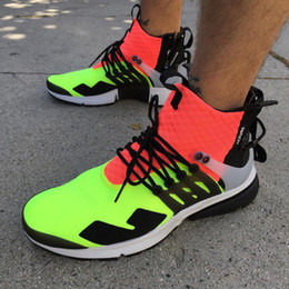 Wholesale X Volt - New ACRONYM x Air Presto Mid ZIP Mens Running Shoes Sportswear vibrant Hot Lava Volt Black White Grey Green Sports Shoes