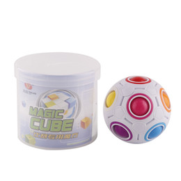 Wholesale Rainbow Ball Magic Cube Speed Football Fun Creative Spherical Puzzles Kids Educational Learning Toys games for Children Adult Gifts DHL