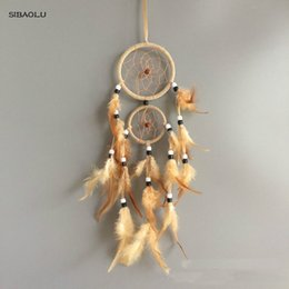 Wind Chimes & Hanging Decorations Home Decor Lovely Fashion Home Decor Rattan Flower Dream Catcher With Feathers Wind Chimes Car Rome Wall Hanging Decoration Ornament Dreamcatcher