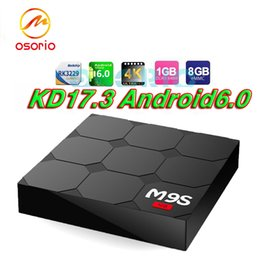 Wholesale Play Install - RK3229 M9S V3 android 6.0 tv boxes KDplayer 17.3 installed 4K HDR H.265 HEVC 3D Movies play Private model 1GB 8GB WIFI Internet TV Box VS T8
