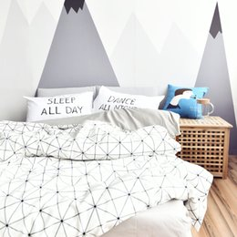 Wholesale covers for washing machines - Fashion Black White Color 100% Cotton Twin Queen Size Bedding Set Duvet Cover Set for Kids and Adults