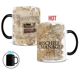 Wholesale Best Mugs - Harry Potter color changing mugs mischief managed coffee mugs changing color mug for best friend gift