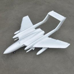 Wholesale rc planes kits - Wholesale- DH110 70mm EDF plane toy EPO RC airplane toy model white color Kit for DIY