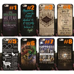 Iphone harry potter online-Harry Potter Marauders Hogwarts Mapa Palabras Moda Moda caliente Plástico duro PC cubierta trasera piel Shell para iphone 8 7 Plus 6 6S 5 5S