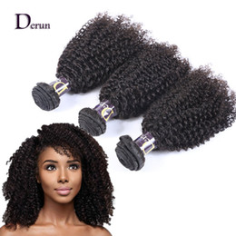Wholesale Curly Hair Mixed Length - 7A Brazilian Hair 3 Bundles Kinky Curly Hair Weaves Unprocessed Human Hair Extensions Accept Return Free Shipping