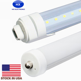 Wholesale t8 tube light clear cover - In Stock 8ft 2.4m 45w t8 LED tube light with FA8 R17D caps in clear frosted cover 3000-6500k