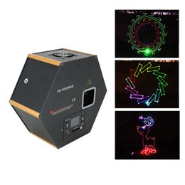 Wholesale Usa Source - AUCD RGB 500mW Laser SD Card Program Source 23 CH DMX Animation Projector Stage Lighting PRO DJ Show Scanner Light H500RGB