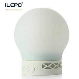 Wholesale Silicone Alarm - Soft Silicone LED Lamp Bluetooth Speaker Touch Controlled Smart Colorful Romantic Light Portable speaker with Alarm Clock