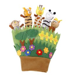 Wholesale Wooden Animals Heads - Wholesale-Wooden Head Animal Hand Glove Puppet Toys