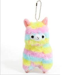 Wholesale Alpaca Plush Toys - 14cmRainbow Alpacasso Stuffed Animals Kawaii Alpaca Llama Arpakasso Soft Plush Toys Dolls Gift 50 pcs YYA614