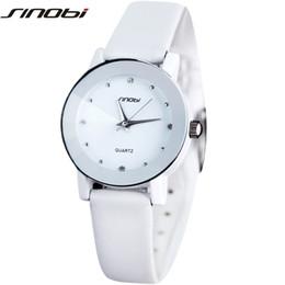 Wholesale Watches Sharp - Watches Quartz Wristwatches Original SINOBI Lover's Watch Sharp Faux Leather Strap Japan Quartz Wrist Watch XMAS Gift for Women