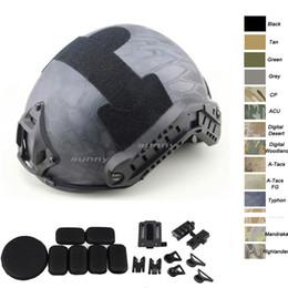 2019 casco del ejército de airsoft Equipo de aire libre Airsoft Paintabll Casco de tiro Protección de la cabeza Engranaje ABS Versión simple MH Casco táctico rápido de Airsoft