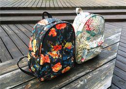 Wholesale American Girl School Backpack - Hot Fashion Desin Street Graffiti Flowers Girl Backpack Leisure Travel School Bag Outdoor Waterproof Nylon Bag