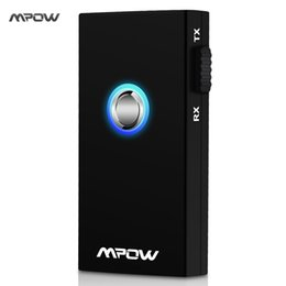 Wholesale Pcs Transmitter - Wholesale- Mpow MBT3 2-In-1 Wireless Bluetooth Music Streaming Switchable Transmitter and Receiver Speaker for Mobile Phone Tablets PC