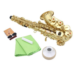 Wholesale Alto Sax Mute - Wholesale- 5 In 1 Alto Saxophone Parts 10*Reed+2 *Mouthpiece Patch+1*Cork Grease+1*Mute+1*Cleaning Cloth For Saxophone Sax Accessories