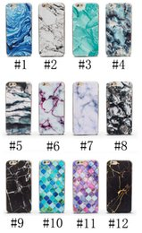 Wholesale Water Arts - phone shell marble painted phone shell relief soft shell TPU creative art mobile phone sets