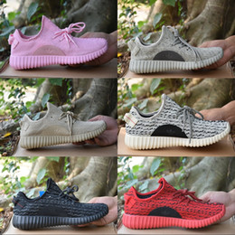 Wholesale Lace Oxford Flats - 2017 Adidas Kanye West Yeezy Boost 350 Moonrock Oxford Tan Turtle Dove Pink Classic Running Shoes Basketball Shoes Sport Boots US 5-11.5