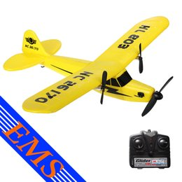 Wholesale Wholesale Foam Glider - 12pcs lot 2.4G RC Glider 2CH EPP Foam Fixed-wing Aeroplane Remote Radio 150m Control Distance Aircraft Gyro AirPlane Drone Toy for Kids