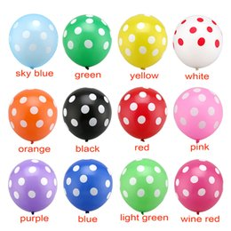 Wholesale Quality Latex Balloons - Hot High Quality 2.8G 12Inch 100Pcs  Lot Romantic Polka Dot Latex Balloons Party Decoration