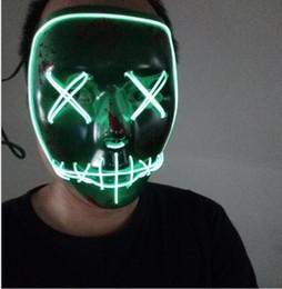 Modelo neon on-line-New Led Máscaras de Fantasma do Dia Das Bruxas A Fuga Máscara do Ano de Eleição EL Fio Máscara de Incandescência Neon 3 Modelos Piscando Festa Scarey Horror Terror Máscara Do Crânio