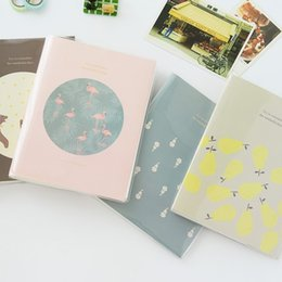 Wholesale Bears Book - Square Paper Photo Album For Home Desor Albums Book Flamingo Bear Pear Silk Velvet Flowers Pattern Camera Supplies Fashion 9 5zb B