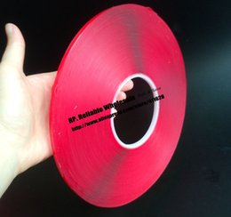 Wholesale Adhesive For Marble - Wholesale- 2016 0.8mm Thick, (5mm*33 meters) Double Sided Clear Acrylic Glue Adhesive Tape for Metal, Glass, Marble, Car, Track, Accessori