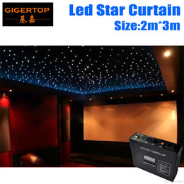Wholesale Led Backdrops Curtain - Fireproof 2M*3M Light Curtain Led Star Curtain 90V-240V RGBW Color,5mm Tyanshine LED Star Cloth Wedding Backdrops Led Cutains Factory Price
