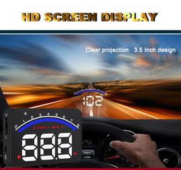 Wholesale Obd Km - Professional Car Alarm System M6 OBD2 HUD Projector Head Up Display KM h MPH Over Speeding Warning OBD II Inteface HUD Styling