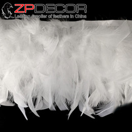 Wholesale Factory Turkey - Gold Supplier CHINAZP Crafts Factory 10yards lot 10~15cm(4~6inch) in Width Good Quality Dyed White Turkey Chandelle Feathers Trim