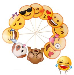 Wholesale Party Prop Wholesale - cute Emoji Photo Booth Props Funny Mask Birthday Party Decoration Halloween mask Photo booth Props Wedding Event Supplies