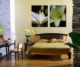 Wholesale Colorful Rose Painting - Chrysanthemum Lily tulip rose Anthurium bottle white yellow red colorful flowers Oil Painting Modular Canvas Picture Wall Poster Home Decora