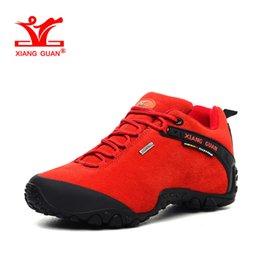 Wholesale Warm Climbing Shoes - XIANGGUAN Woman Waterproof Hiking Shoes for Women Suede Athletic Trekking Warming Boots Womens Sports Climbing Shoe Outdoor Walking Sneakers