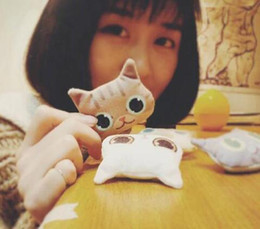 Wholesale Cartoon Printing Plate - 2017 NEW 3D Printing Cat Dog Head Brooches Personality And Lovely Cartoon Plush Pins Brooches Creative Gifts