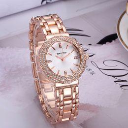 Wholesale Women Watches Style - 2016 Hot Famous Style Women Watches Fashion Simple Stainless Steel Quartz Watch For Ladies Femme Montre Relojes De Marca Casual Wristwatch