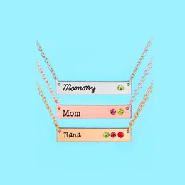 Wholesale Nana Gold - 2017 Fashion Creative Xlmommy Mom Nana Pendant Necklace Gold Silver Plated Mother's Day Gift Retro Necklace for Women Jewelry Accessories