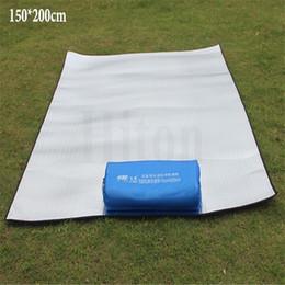 tappetino in alluminio da campeggio Sconti All'ingrosso-materassino materassino da campeggio all'aperto picnic coperta tappetino da picnic pad tappetini in alluminio stuoia doppio lato campeggio spiaggia mat impermeabile
