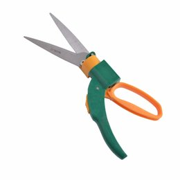 Wholesale Grass Blade - shear blades Flexsteel 13.5inch Grass Shears With 5in. High Carbon Steel 360 degree Rotary Blades For Edging and Trimming Decorative Grass