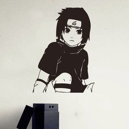 Wholesale Wall Stickers Naruto - Creative wall art wall of the Japanese anime Naruto stickers children's home decoration wall stickers living room vinyl decals DIY
