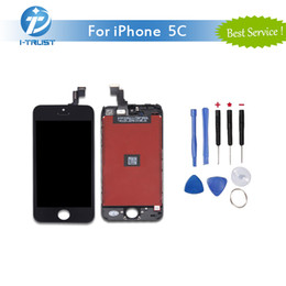 Wholesale Best Digitizer - Grade AAA Quality LCD For iPhone 5C Display Touch Screen Digitizer and free Best Repair Replacement With Repair Tools + Free Shipping
