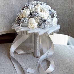 Bourgogne Broche Bouquet Ivoire Mariée Bouquets de mariage Fleurs De Mariage En Cristal Artificiel buquet 4 Couleurs D631 ? partir de fabricateur