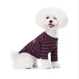 Wholesale Summer Clothes Manufacturers - Manufacturers Wholesale, 2017 spring new Korean pet clothing striped dog garments clothing, free shipping